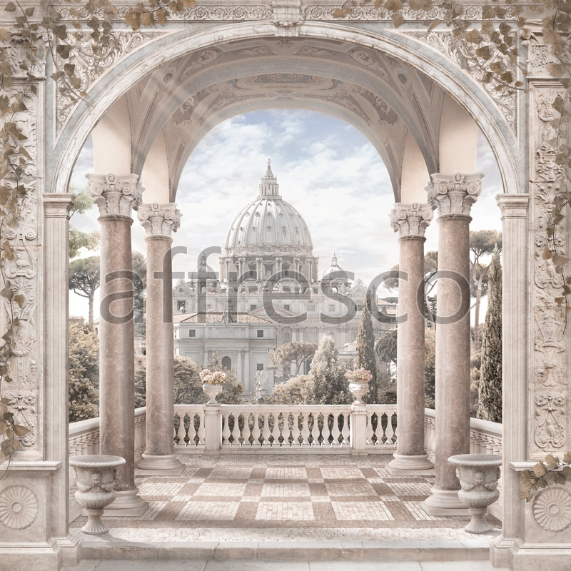 6520 | The best landscapes | Cathedral view from a balcony | Affresco Factory