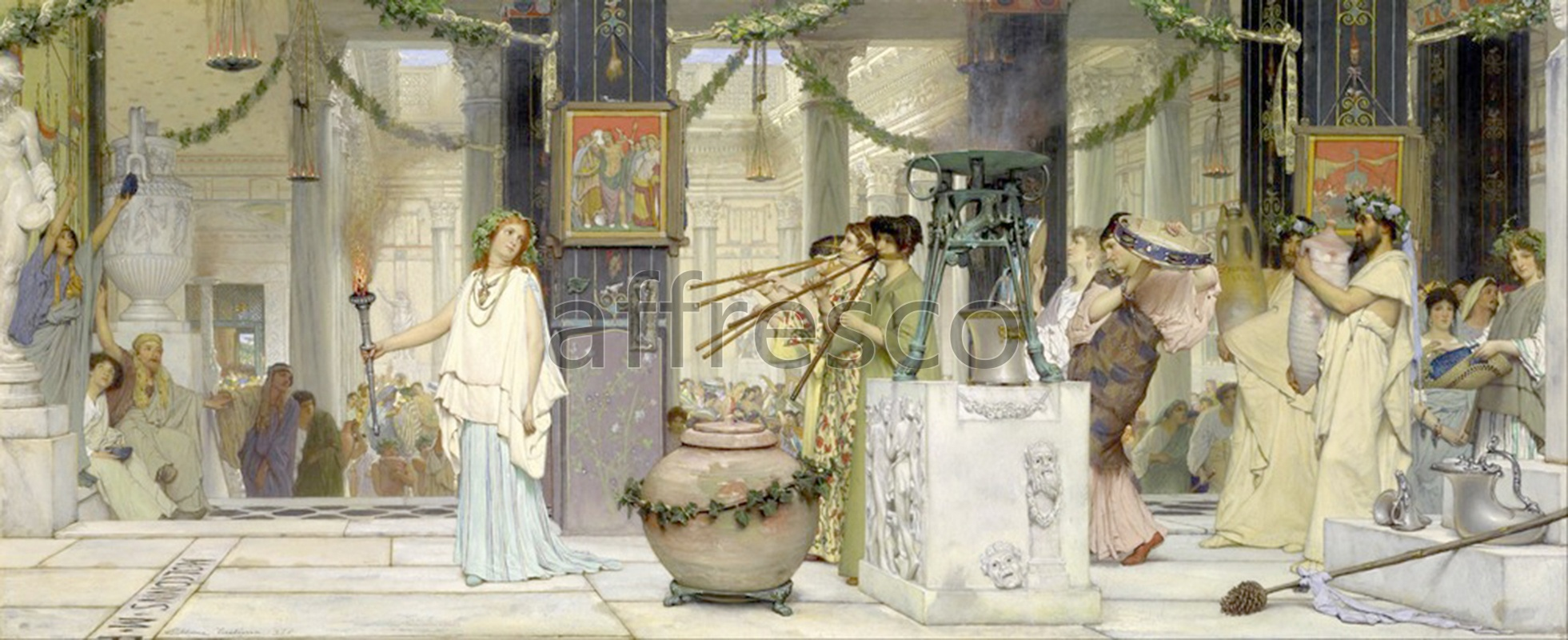 Classical antiquity themes | Lawrence Alma Tadema The vintage festival | Affresco Factory