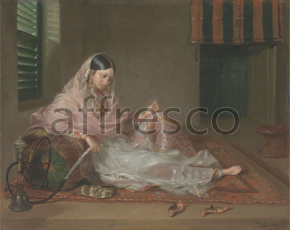 Scenic themes | Francesco Renaldi Muslim Lady Reclining | Affresco Factory