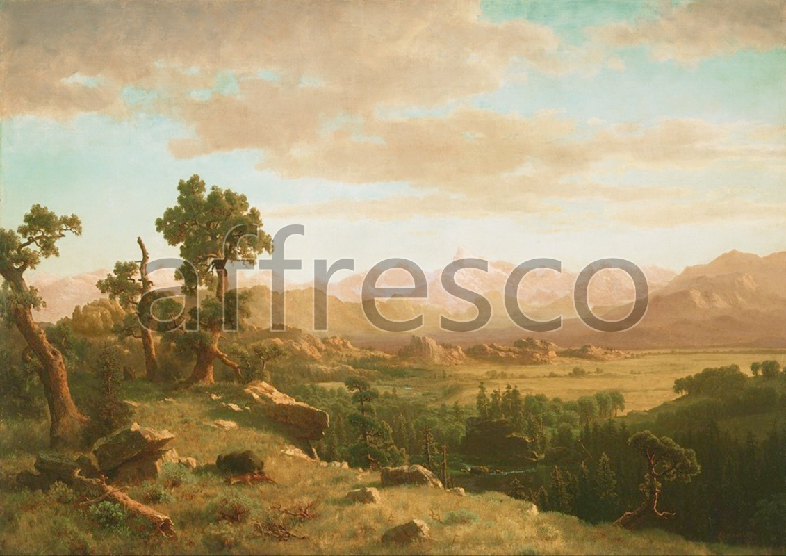 Classic landscapes | Albert Bierstadt Wind River Country | Affresco Factory