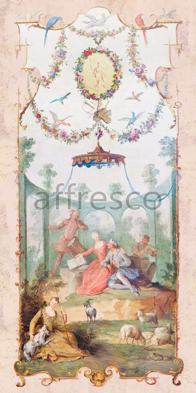 3396 | Classic Ornaments | relax in an arbor | Affresco Factory