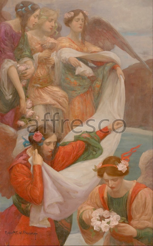 Scenic themes | Rupert Bunny Angels Descending | Affresco Factory