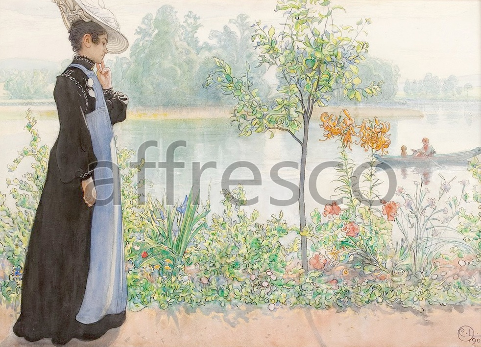 Scenic themes | Carl Larsson Karin by the shore | Affresco Factory