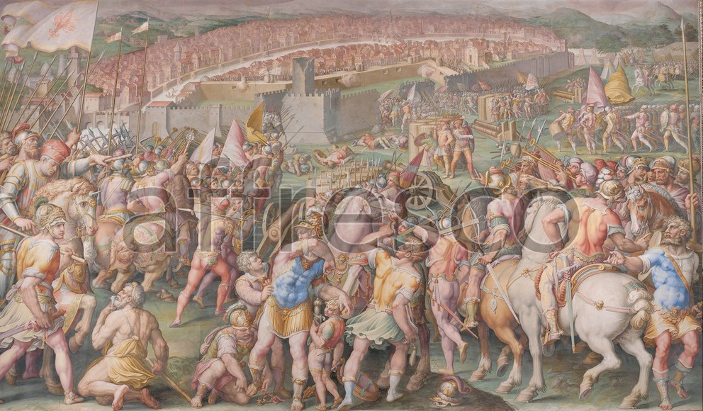 Scenic themes | Giorgio Vasari The storming of the fortress of Stampace in Pisa | Affresco Factory