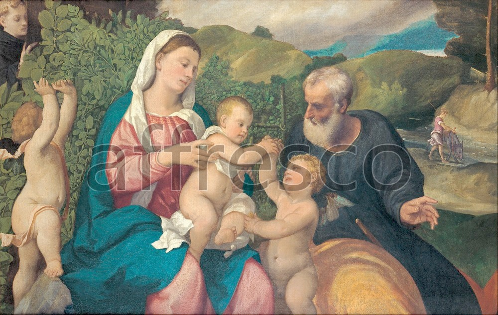 Biblical themes | Bonifazio de Pitati Rest on the Flight into Egypt | Affresco Factory