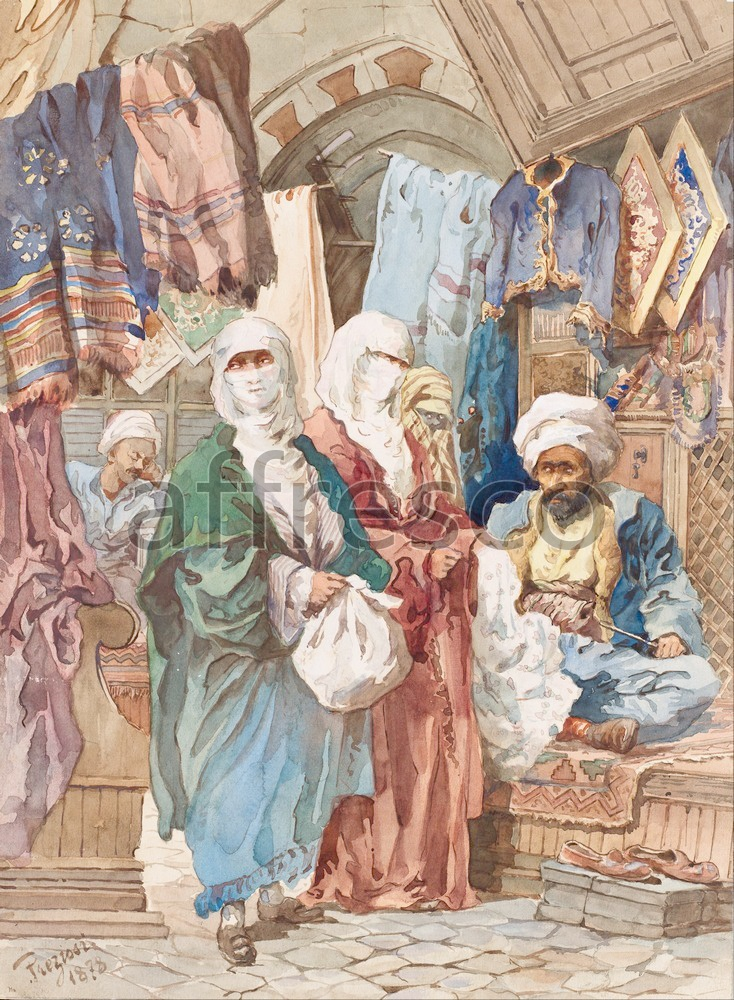 Scenic themes | Amadeo Preziosi The Silk Bazaar | Affresco Factory