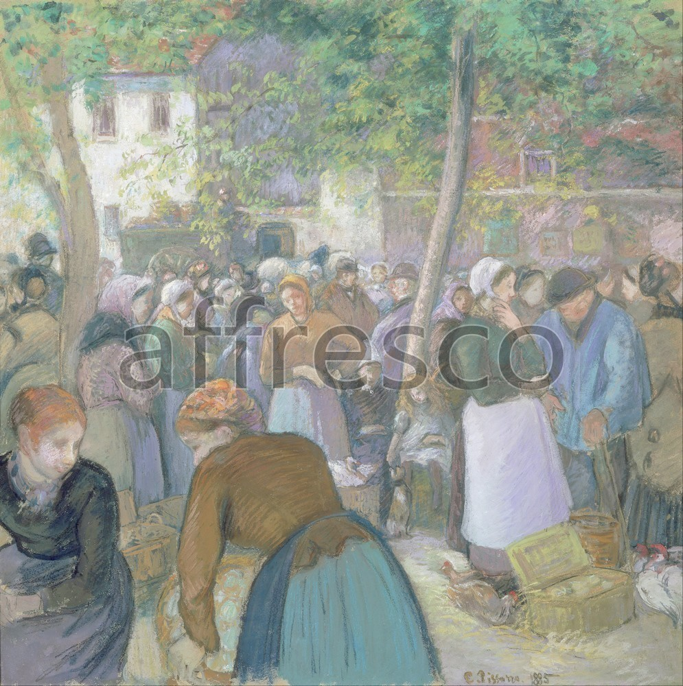 Impressionists & Post-Impressionists | Camille Pissarro Poultry Market at Gisors | Affresco Factory