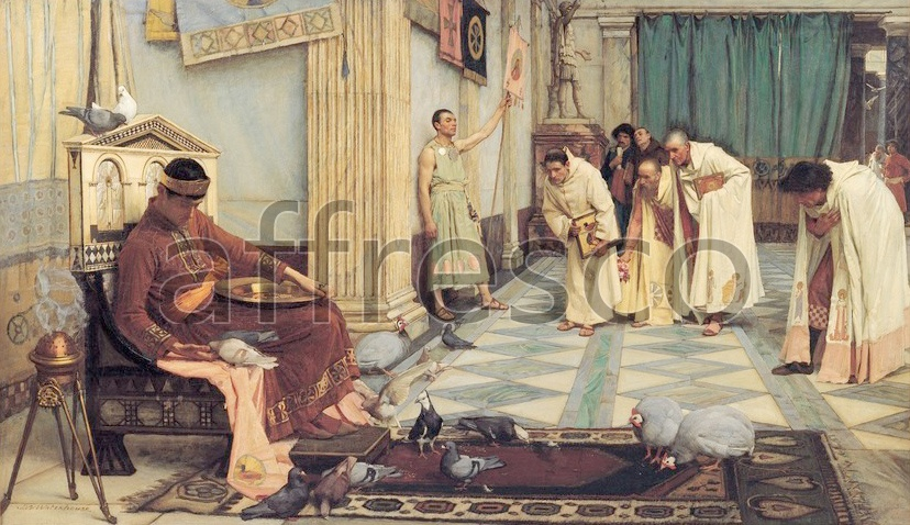 Scenic themes | J. W. Waterhouse The favourites of the Emperor Honorius | Affresco Factory