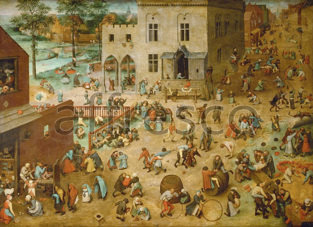 Scenic themes | Pieter Bruegel the Elder Childrens Games | Affresco Factory