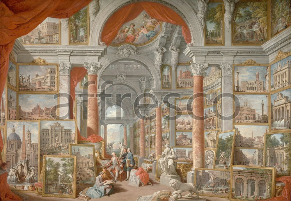 Scenic themes | Giovanni Paolo Pannini Picture Gallery with Views of Modern Rome | Affresco Factory