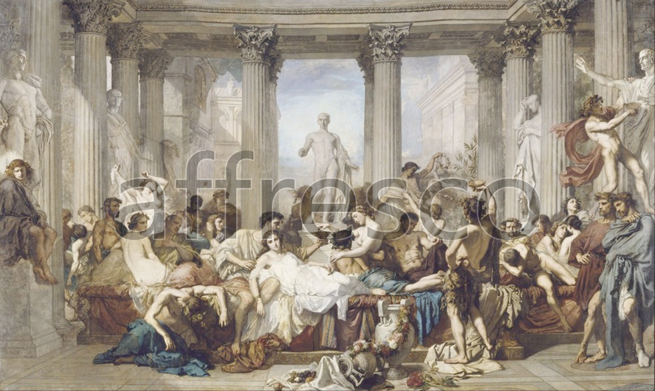 Classical antiquity themes | Thomas Couture Romans during the Decadence | Affresco Factory