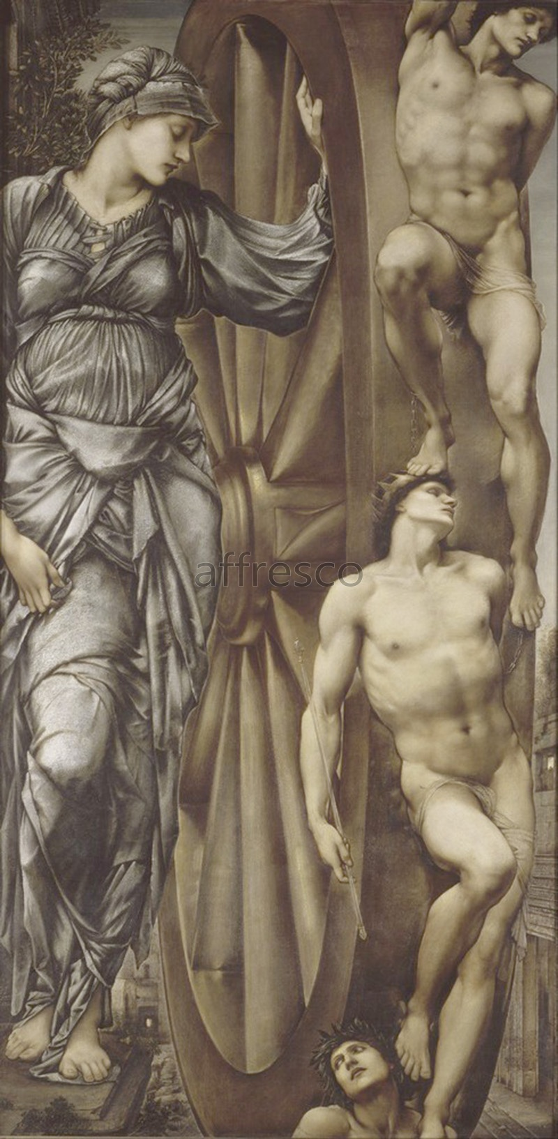 Classical antiquity themes | Edward Burne Jones The Wheel of Fortune | Affresco Factory