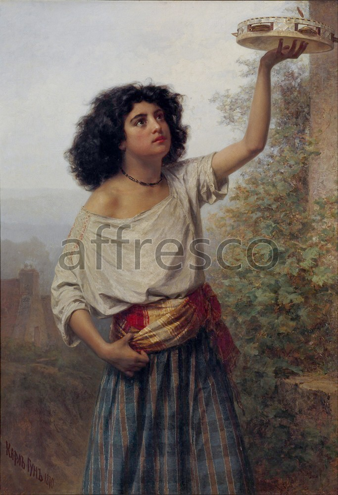 Scenic themes | Karlis Teodors Huns Young Gipsy Woman | Affresco Factory