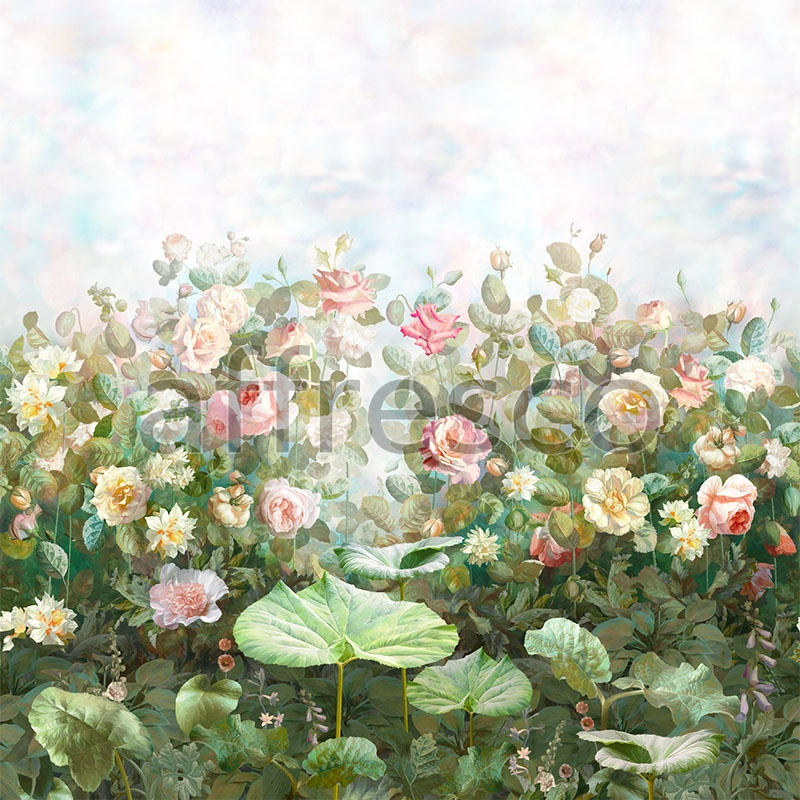 Handmade wallpaper, Handmade wallpaper | Rose garden Color 1