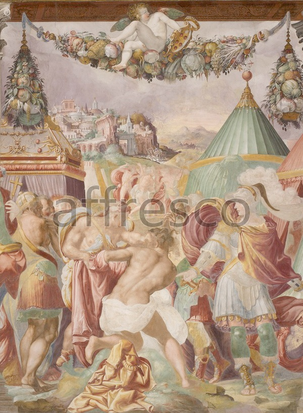 Scenic themes | Francesco Salviati Camillo punishes the treacherous teacher from Falerii | Affresco Factory