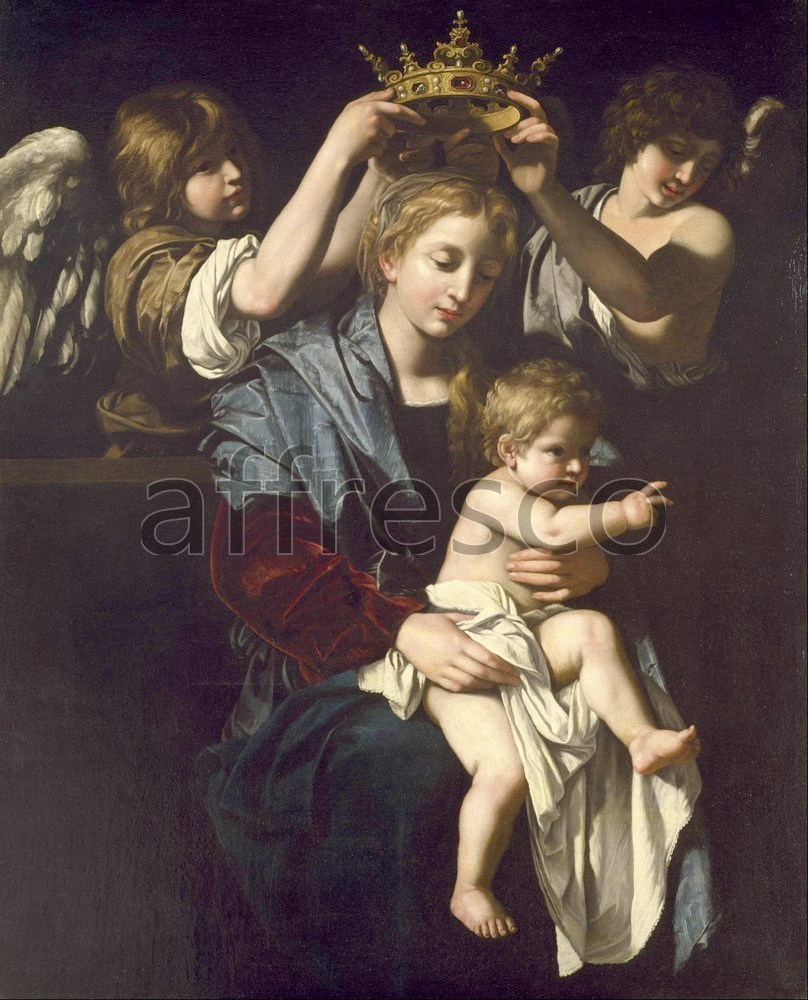 Biblical themes | Bartolomeo Cavarozzi Virgin and Child with Angels | Affresco Factory