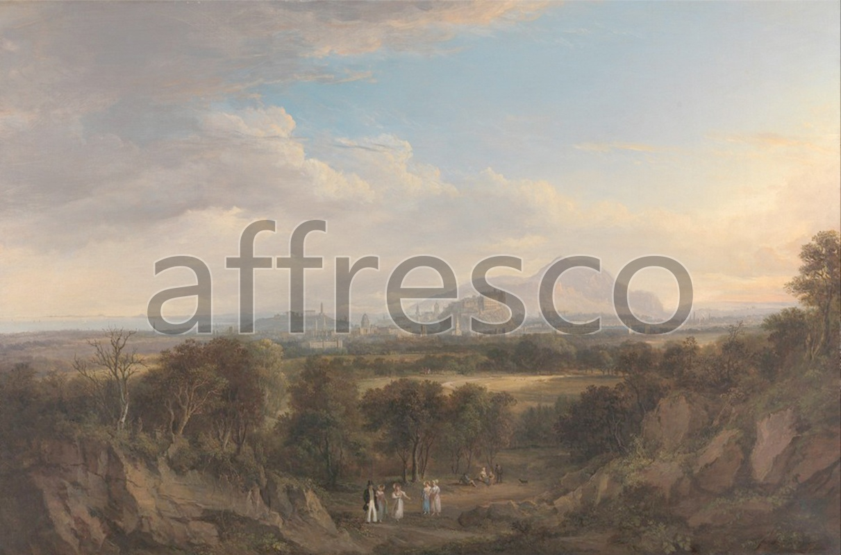 Classic landscapes | Alexander Nasmyth A View of Edinburgh from the West | Affresco Factory