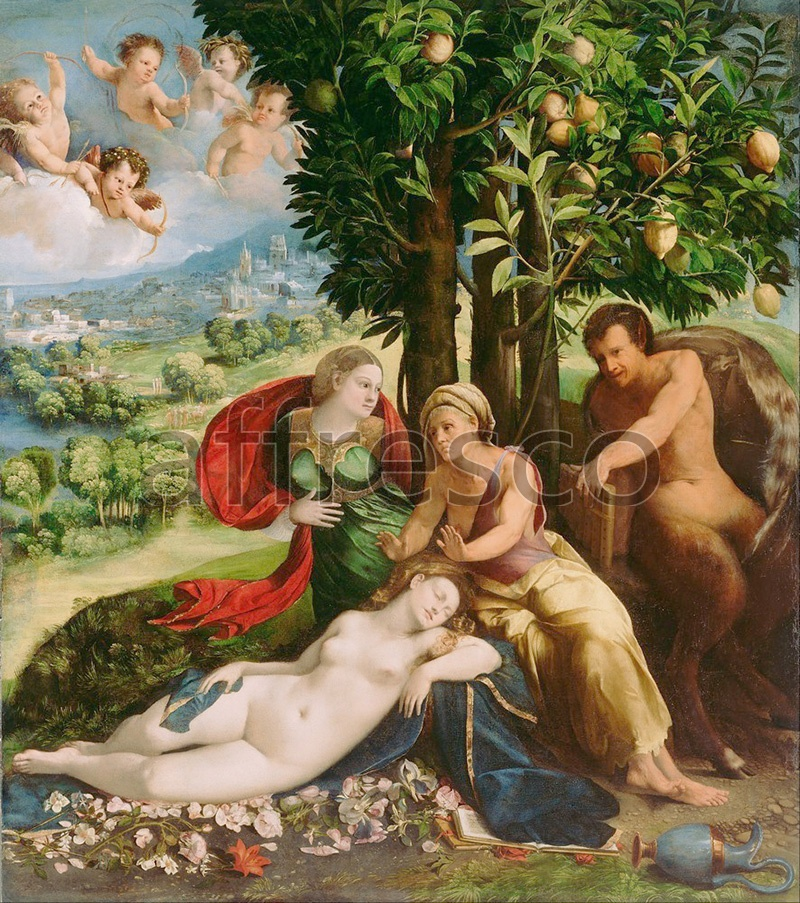 Classical antiquity themes | Dosso Dossi Giovanni di Niccolo de Lutero Mythological Scene | Affresco Factory