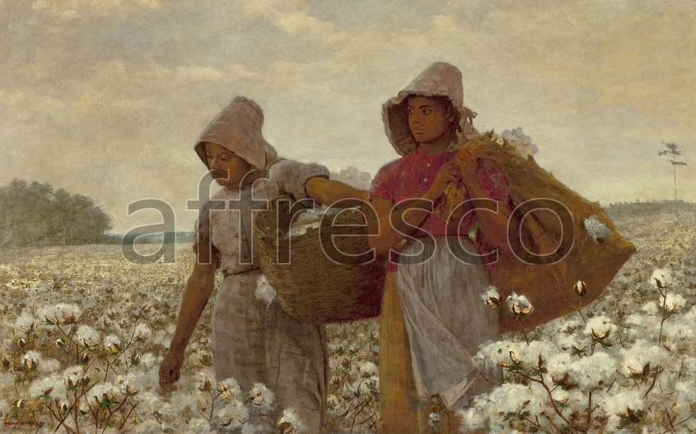 Scenic themes | Winslow Homer The Cotton Pickers | Affresco Factory