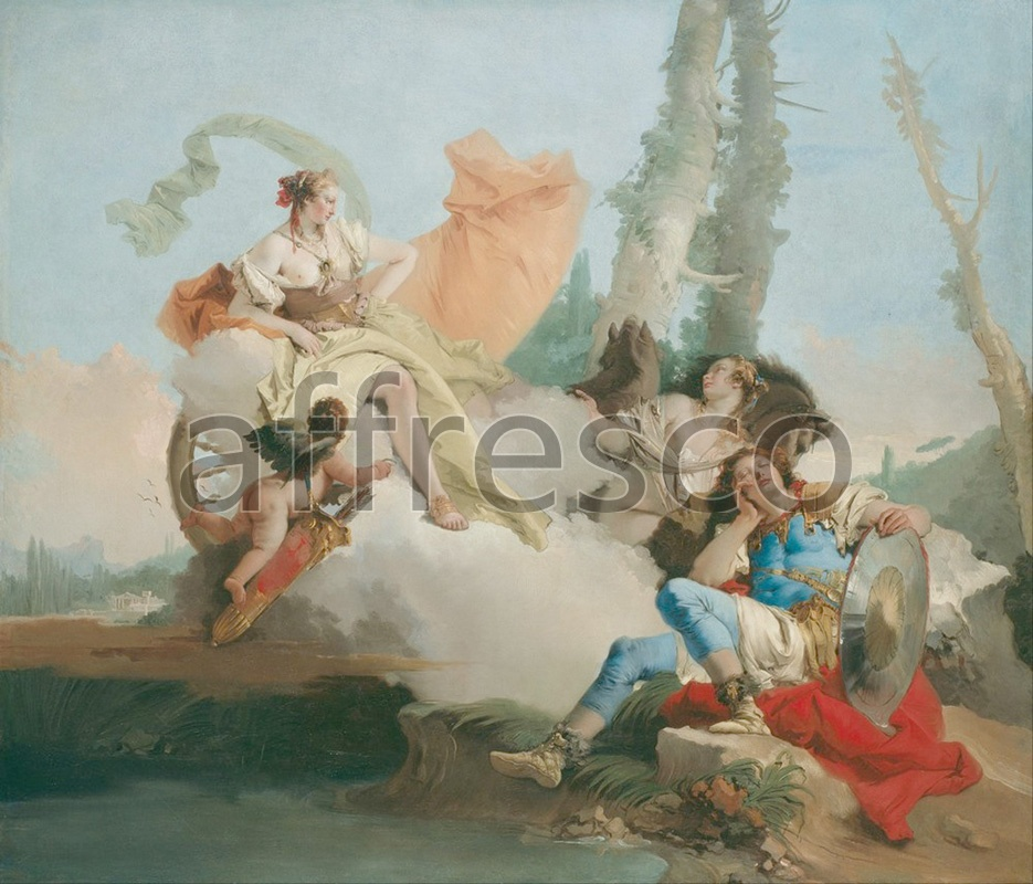 Classical antiquity themes | Giovanni Battista Tiepolo Rinaldo Enchanted by Armida | Affresco Factory