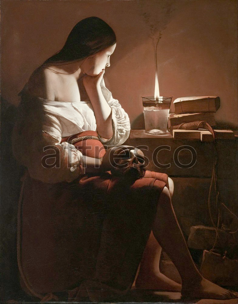 Biblical themes | Georges de La Tour The Magdalen with the Smoking Flame | Affresco Factory