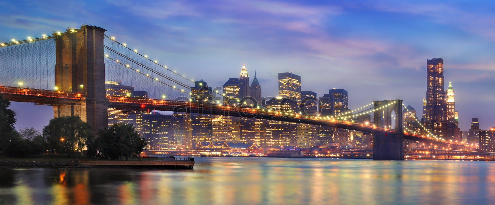 ID10101 | Pictures of Cities  | Night Brooklyn bridge | Affresco Factory