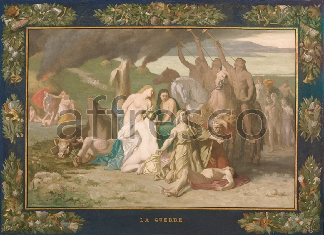 Classical antiquity themes | Pierre Puvis de Chavannes French War | Affresco Factory