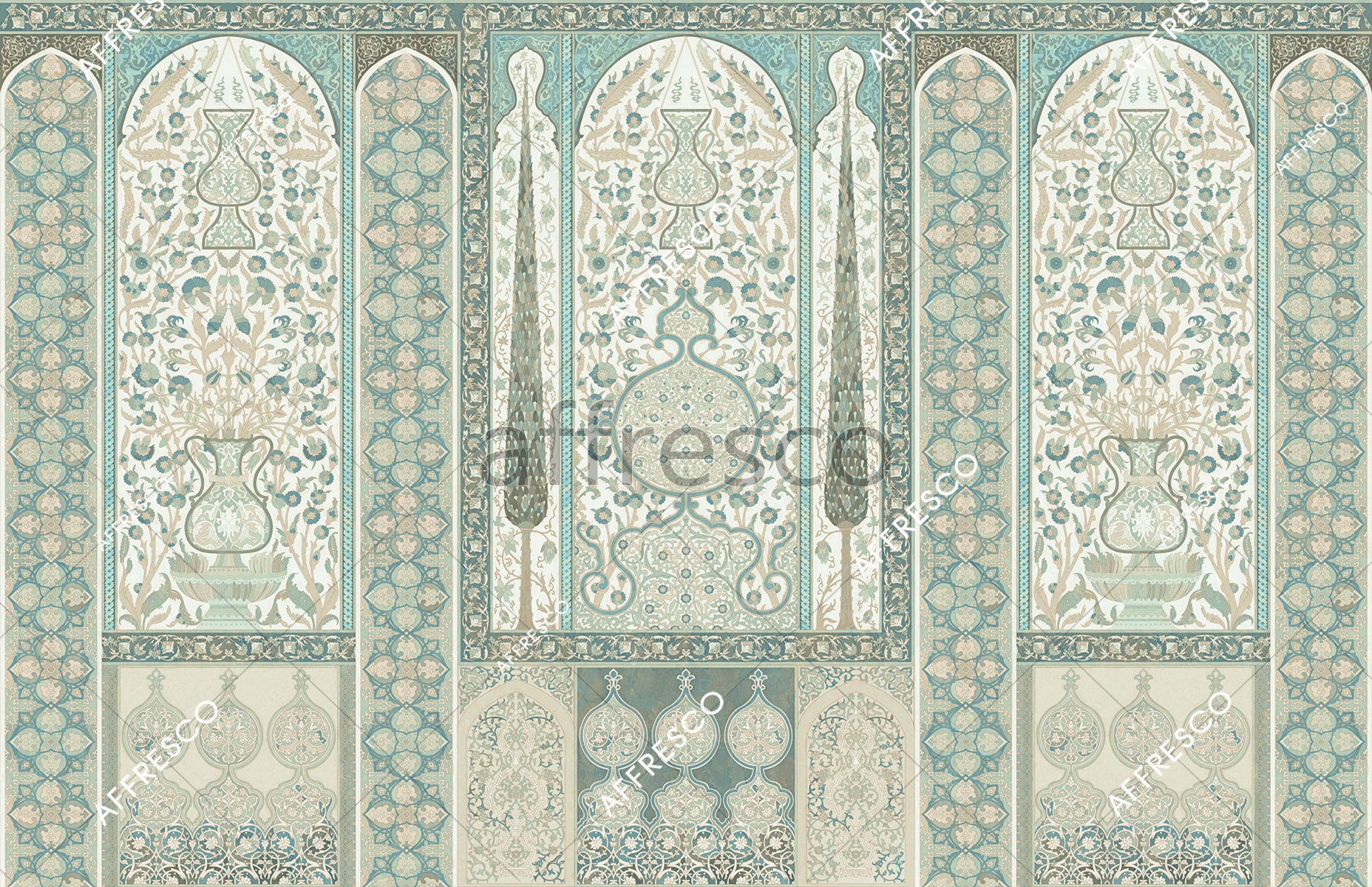 Handmade wallpaper, Classic oriental ornament