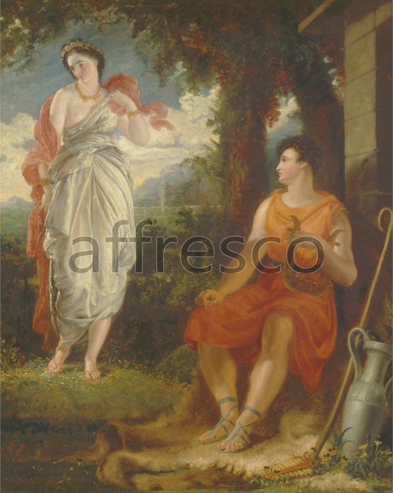 Classical antiquity themes | Benjamin Robert Haydon Venus and Anchises | Affresco Factory