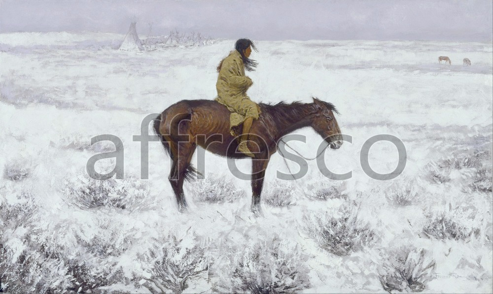 Scenic themes | Frederic Remington The Herd Boy | Affresco Factory