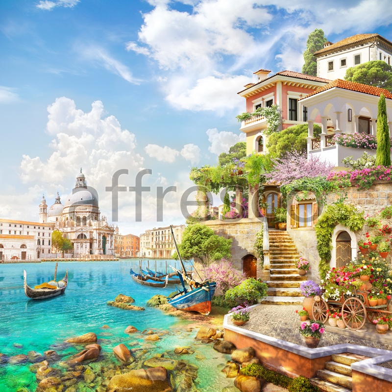 6526 | The best landscapes | House in Venice | Affresco Factory