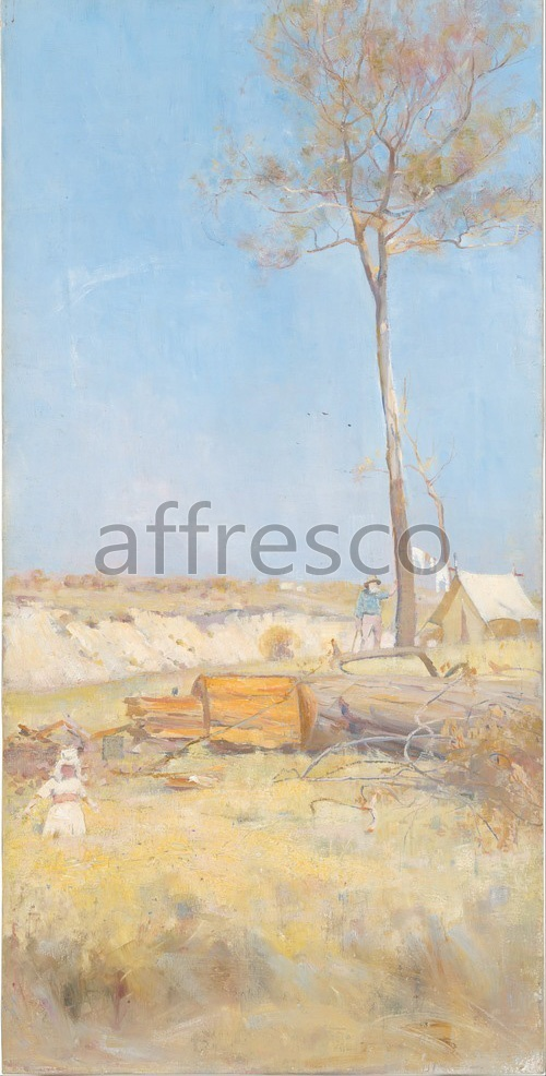 Impressionists & Post-Impressionists | Charles Conder Under a southern sun Timber splitters camp | Affresco Factory