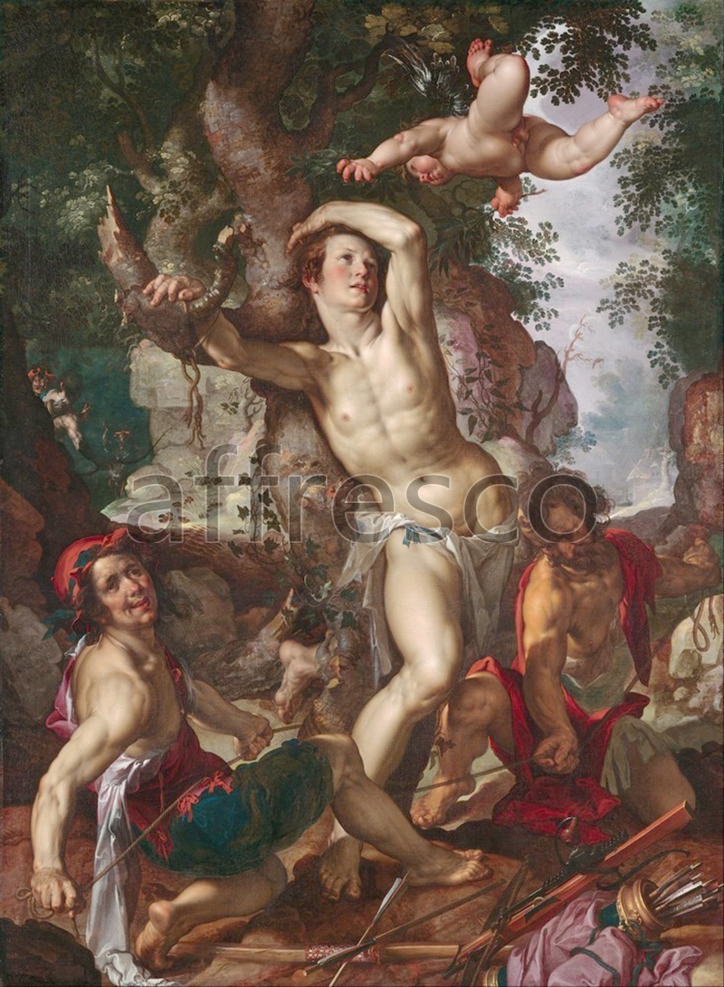Classical antiquity themes | Joachim Anthonisz Wtewael The Martyrdom of Saint Sebastian | Affresco Factory