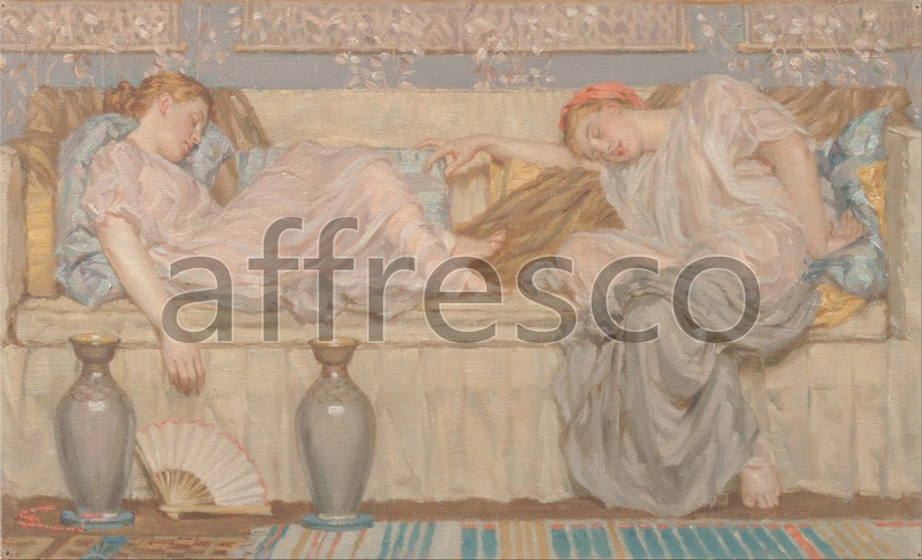 Classical antiquity themes | Albert Joseph Moore Beads study | Affresco Factory