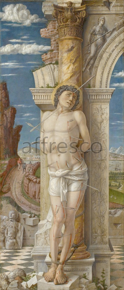 Biblical themes | Andrea Mantegna St. Sebastian | Affresco Factory