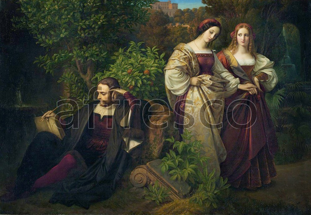 Scenic themes | Carl Ferdinand Sohn Torquato Tasso and the Two Leonores | Affresco Factory
