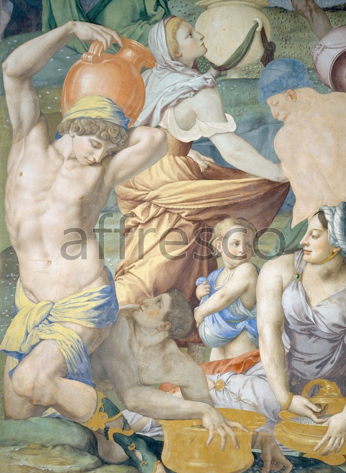 Biblical themes | Agnolo Bronzino The falling of the Manna | Affresco Factory