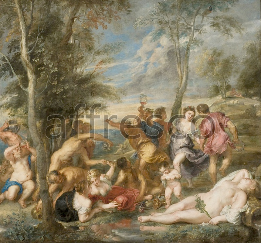 Classical antiquity themes | Peter Paul Rubens The Andrians | Affresco Factory