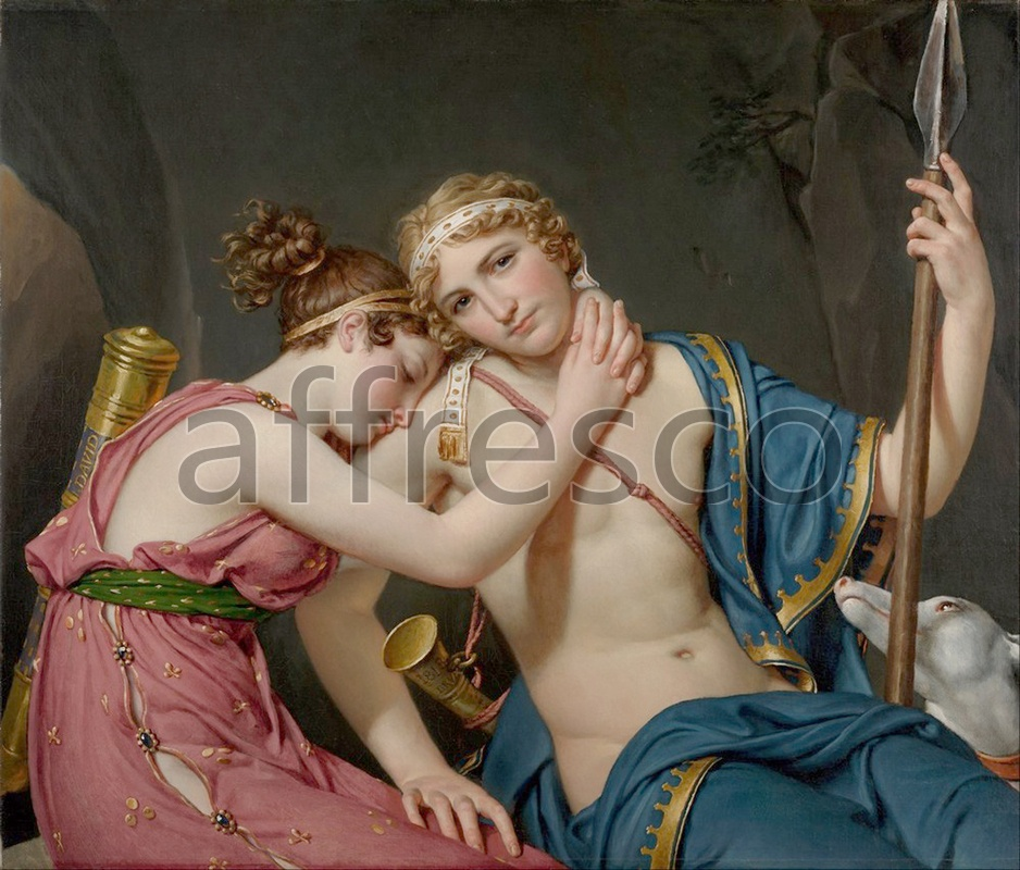 Classical antiquity themes | Jacques Louis David The Farewell of Telemachus and Eucharis | Affresco Factory