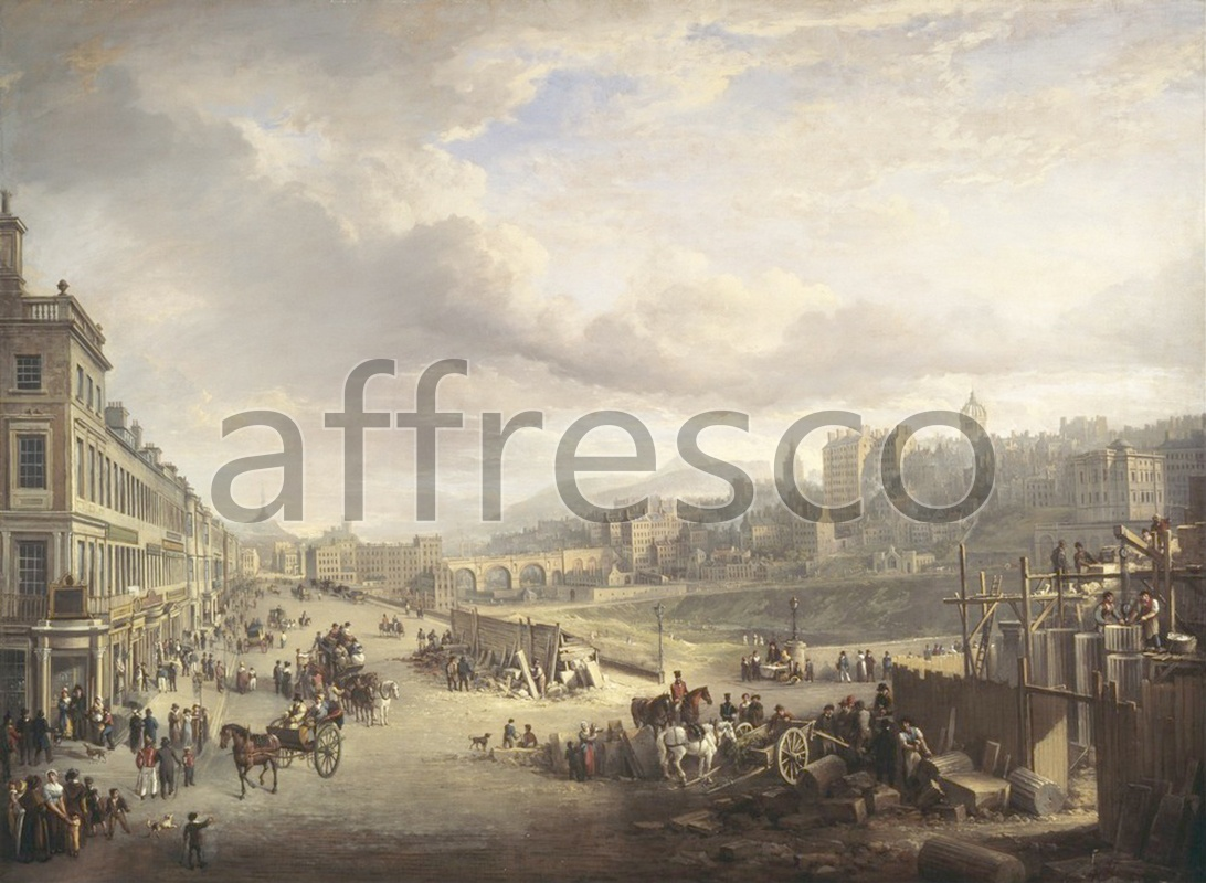 Classic landscapes | Alexander Nasmyth Princes Street with the Commencement of the Building of the Royal Institution | Affresco Factory