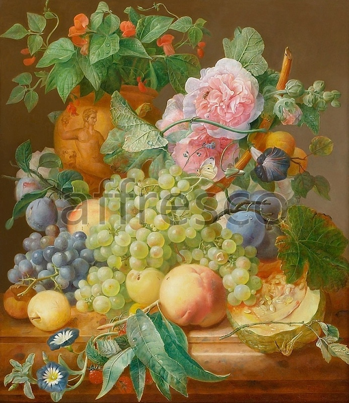 2003 | Still-Life Paintings | grapes and flowers | Affresco Factory