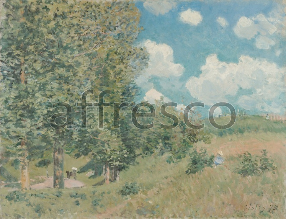 Impressionists & Post-Impressionists | Alfred Sisley The Road from Versailles to Saint Germain | Affresco Factory