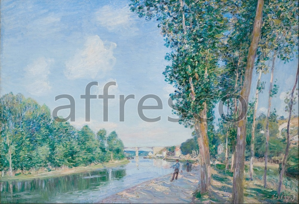 Impressionists & Post-Impressionists | Alfred Sisley Saint Mammes  June Sunshine | Affresco Factory