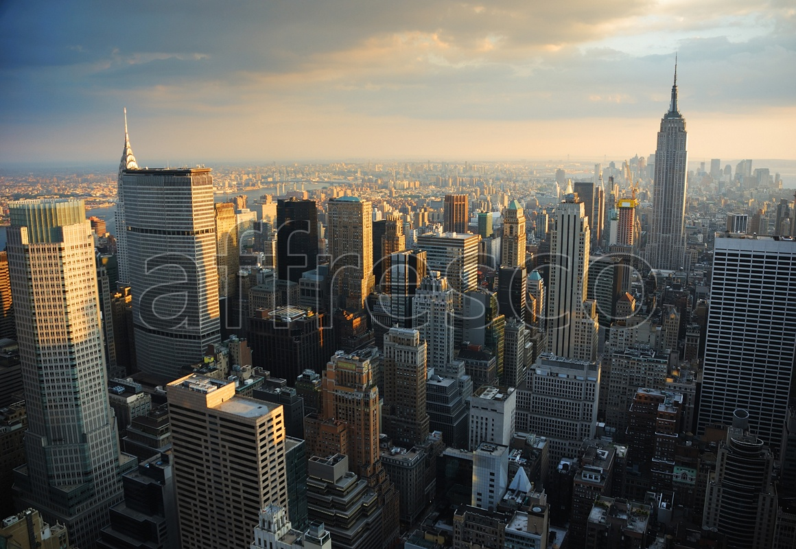 ID10067 | Pictures of Cities  | Sunrise skyscrappers | Affresco Factory