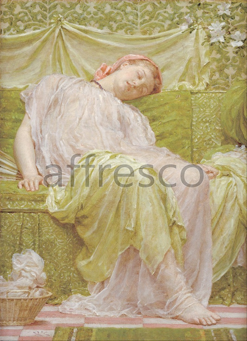 Classical antiquity themes | Albert Moore A workbasket | Affresco Factory