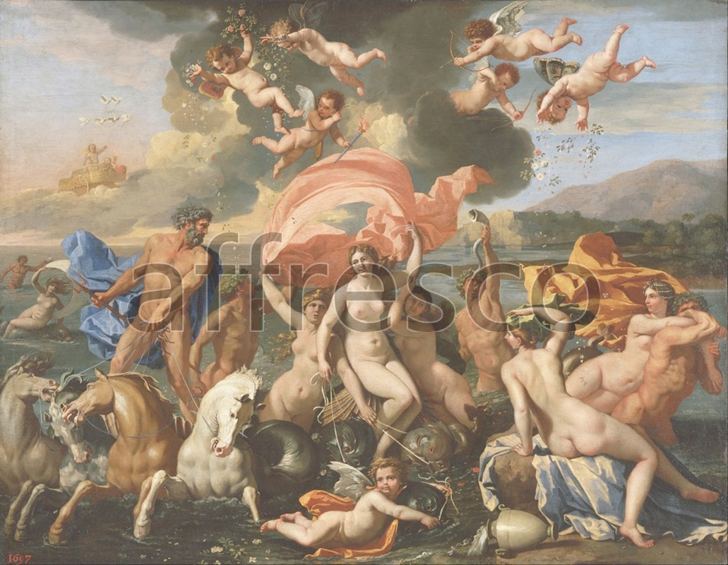 Classical antiquity themes | Nicolas Poussin French The Birth of Venus | Affresco Factory