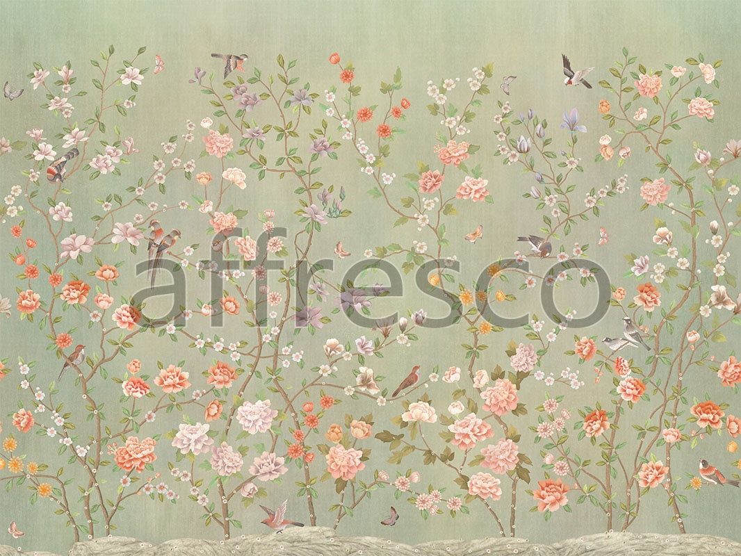 Art Chinese Garden Color 3 Handmade Wallpaper Affresco Factory
