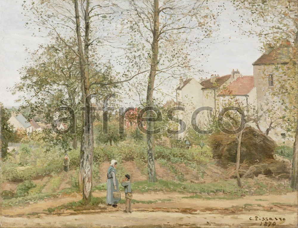 Impressionists & Post-Impressionists | Camille Pissarro Houses at Bougival Autumn | Affresco Factory