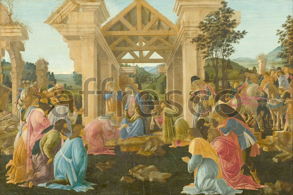 Biblical themes | Sandro Botticelli The Adoration of the Magi | Affresco Factory