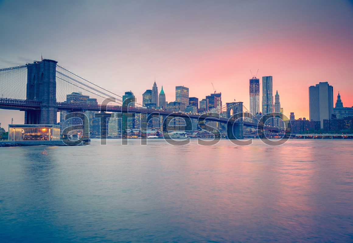 ID13382 | Pictures of Cities  | New-York sunset | Affresco Factory